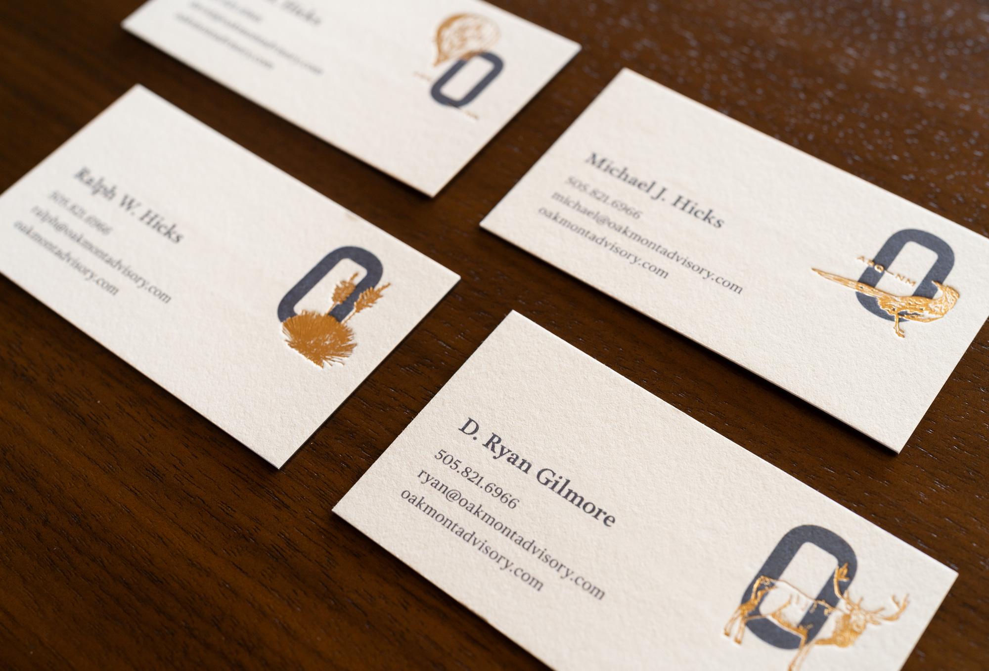 Business card closeup