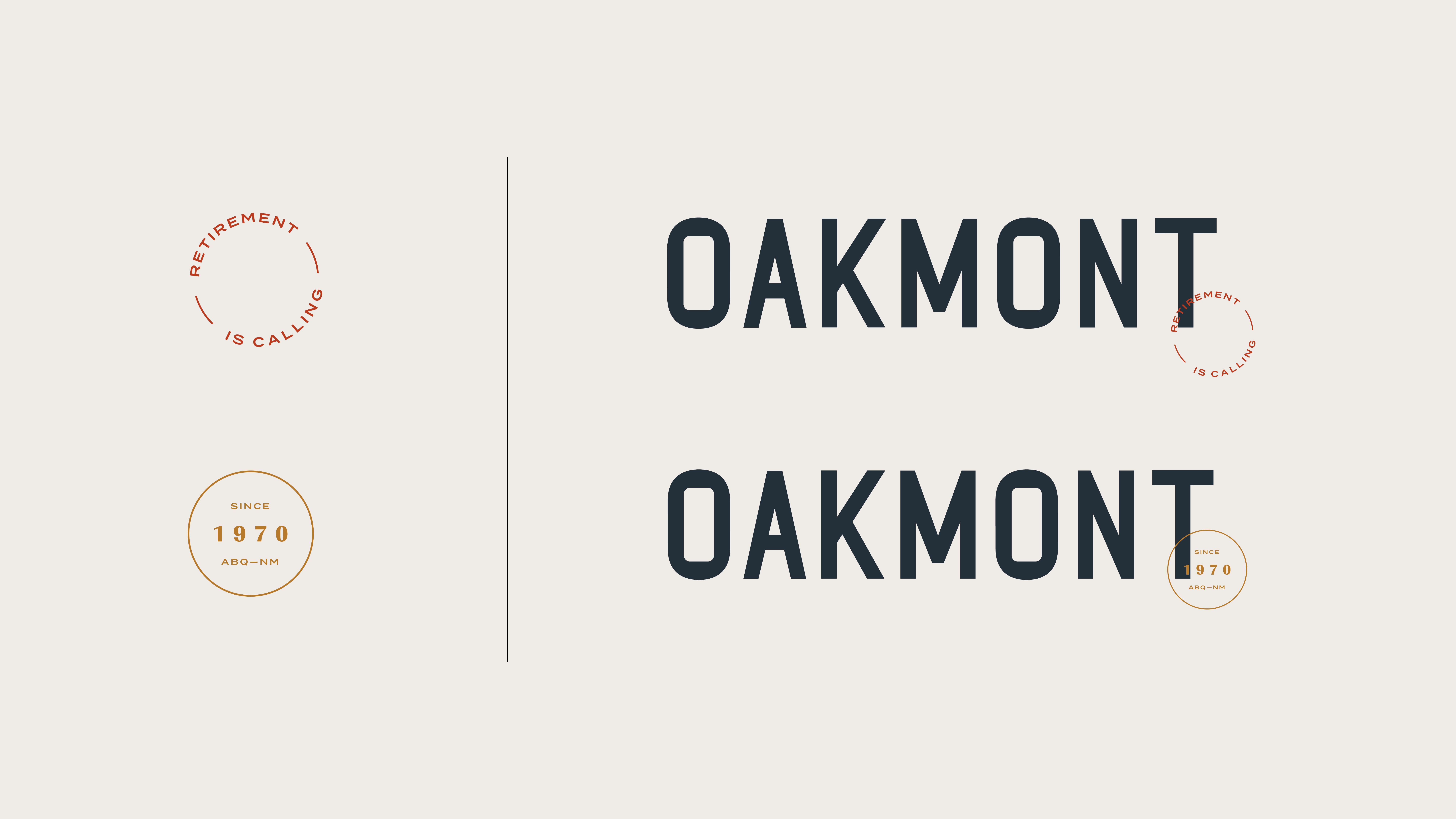 Oakmont logo and submarks