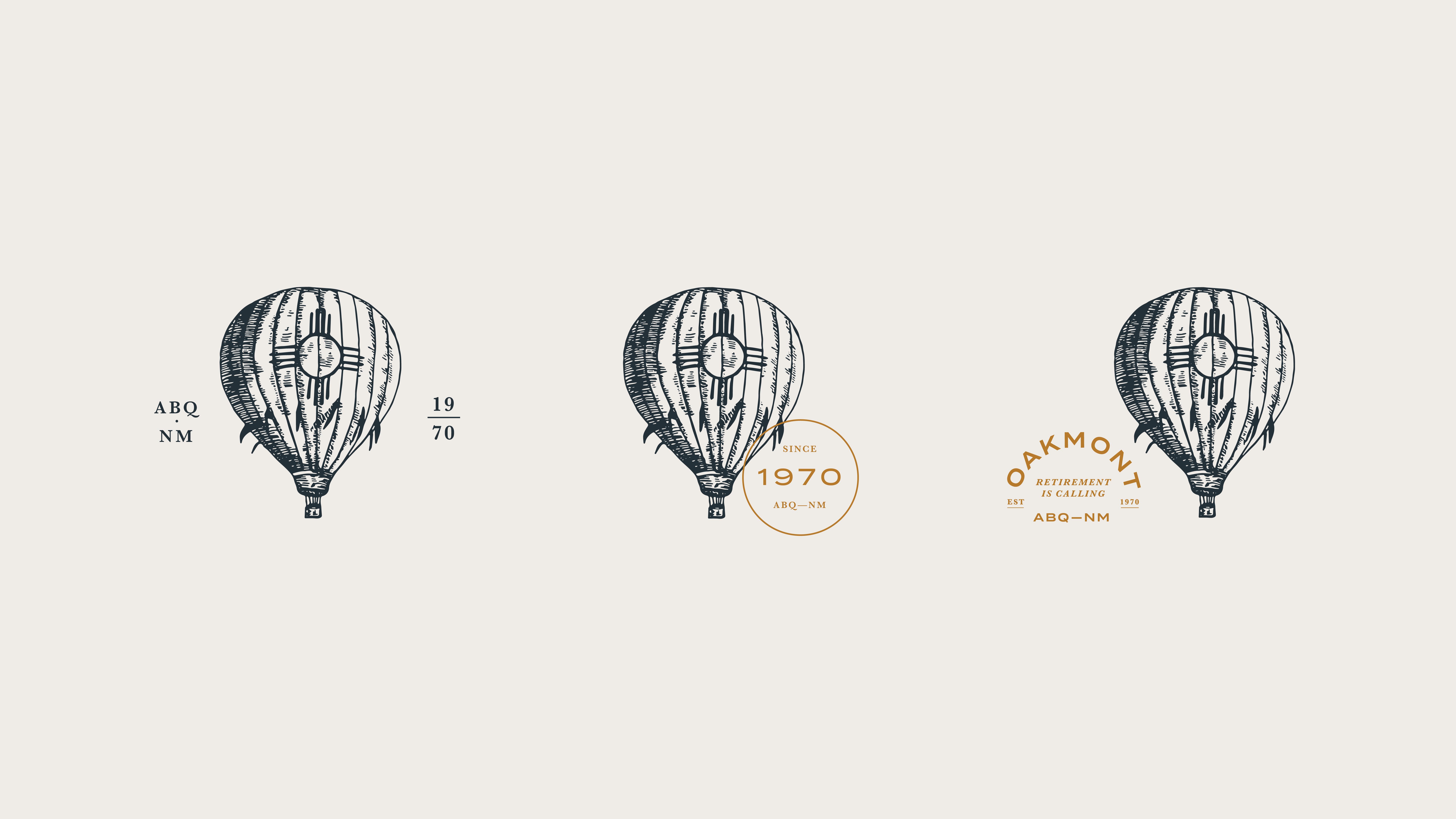 Oakmont hot air balloon illustration