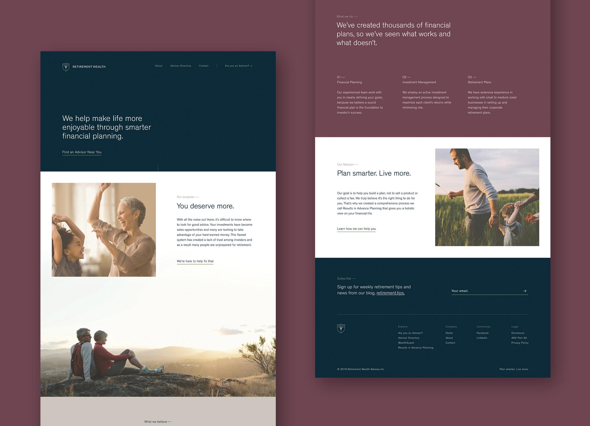 Final homepage prototype