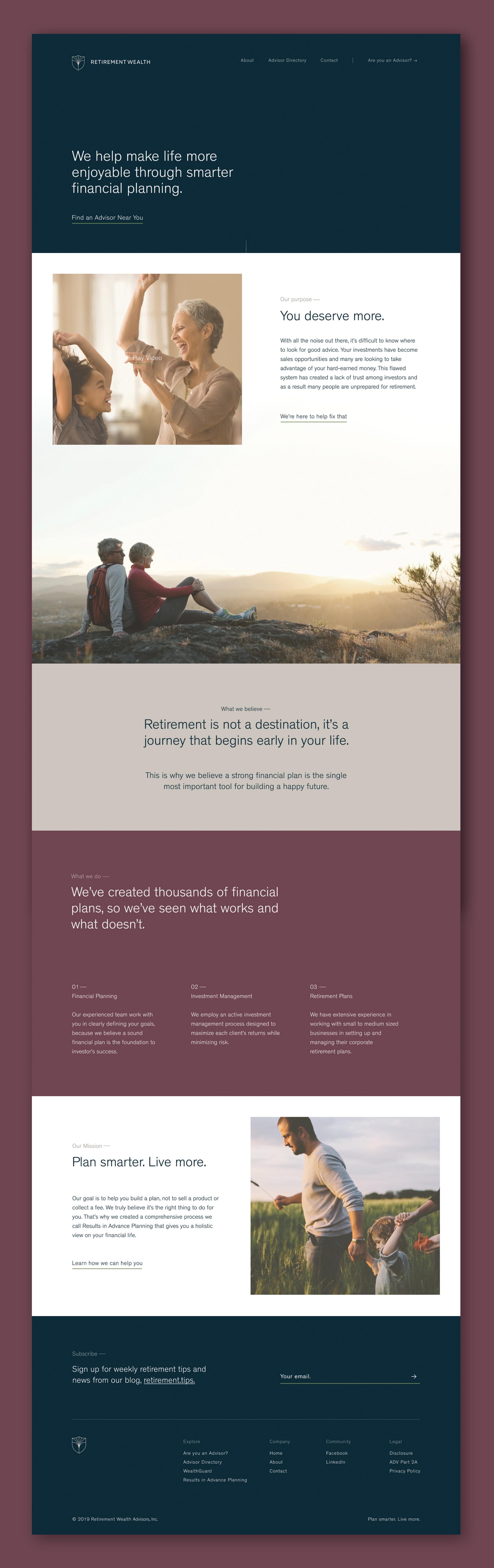 Final full homepage prototype