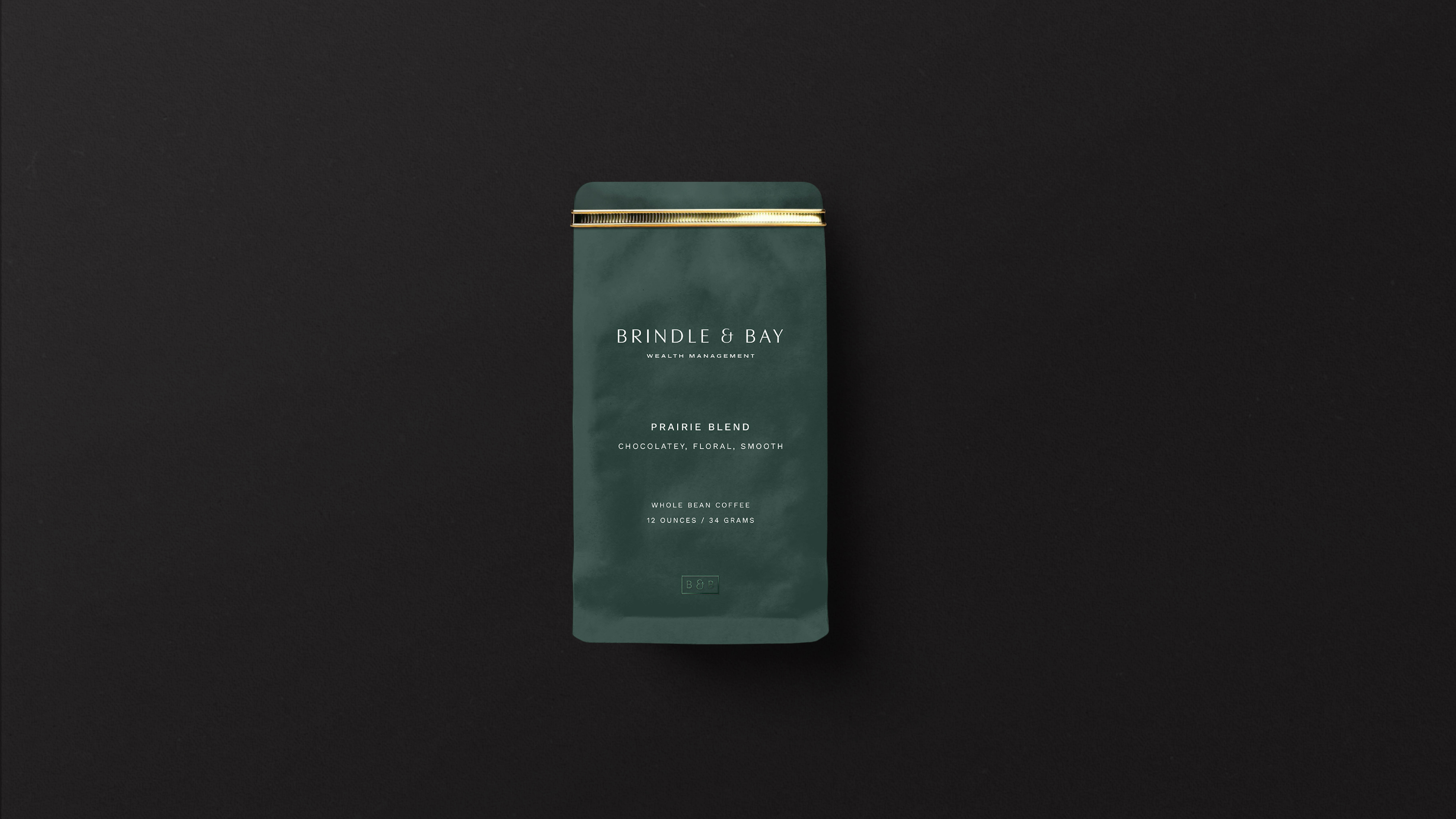 Brindle & Bay coffee bag mockup