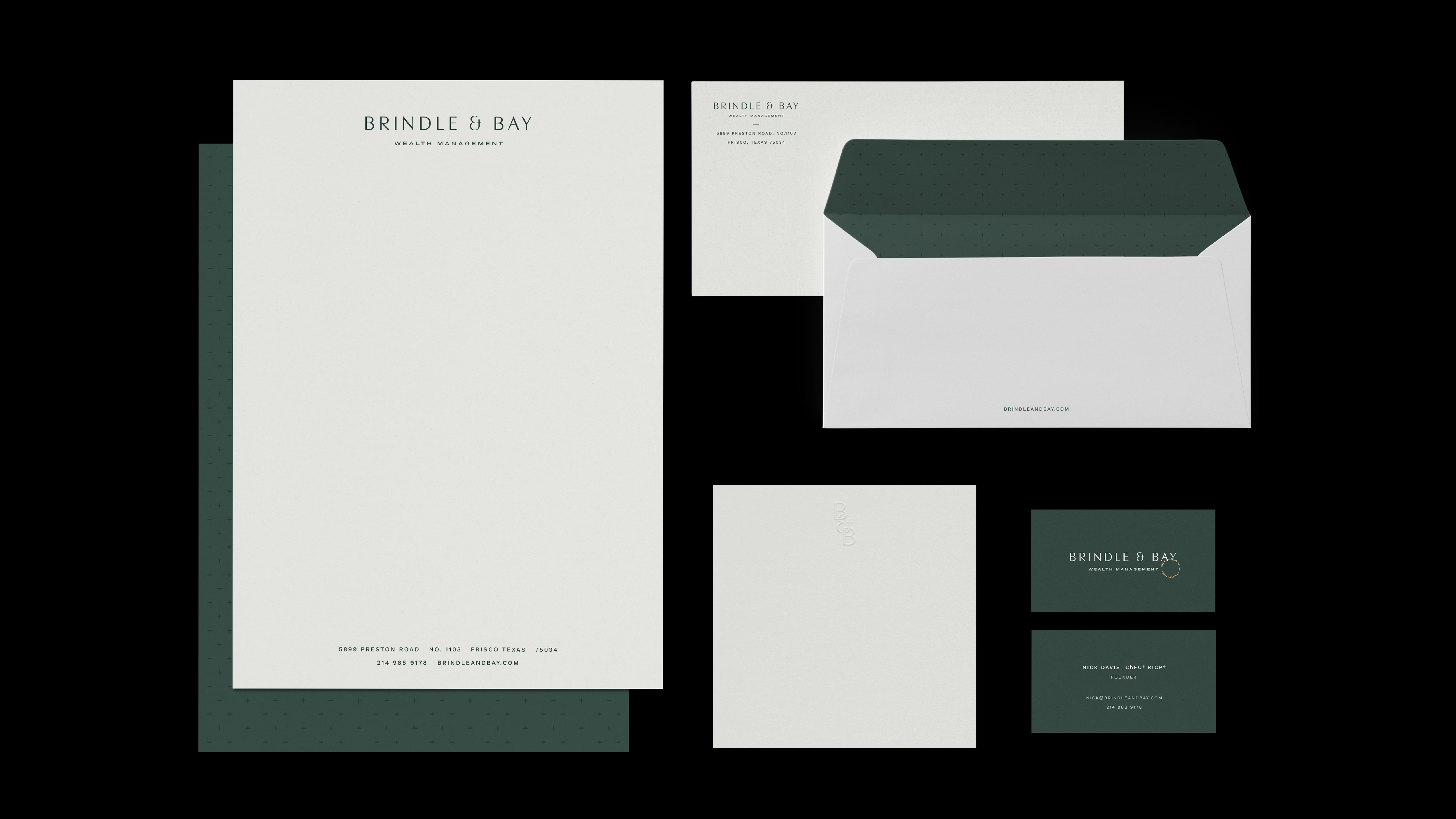 Brindle & Bay Stationery Suite Mockup