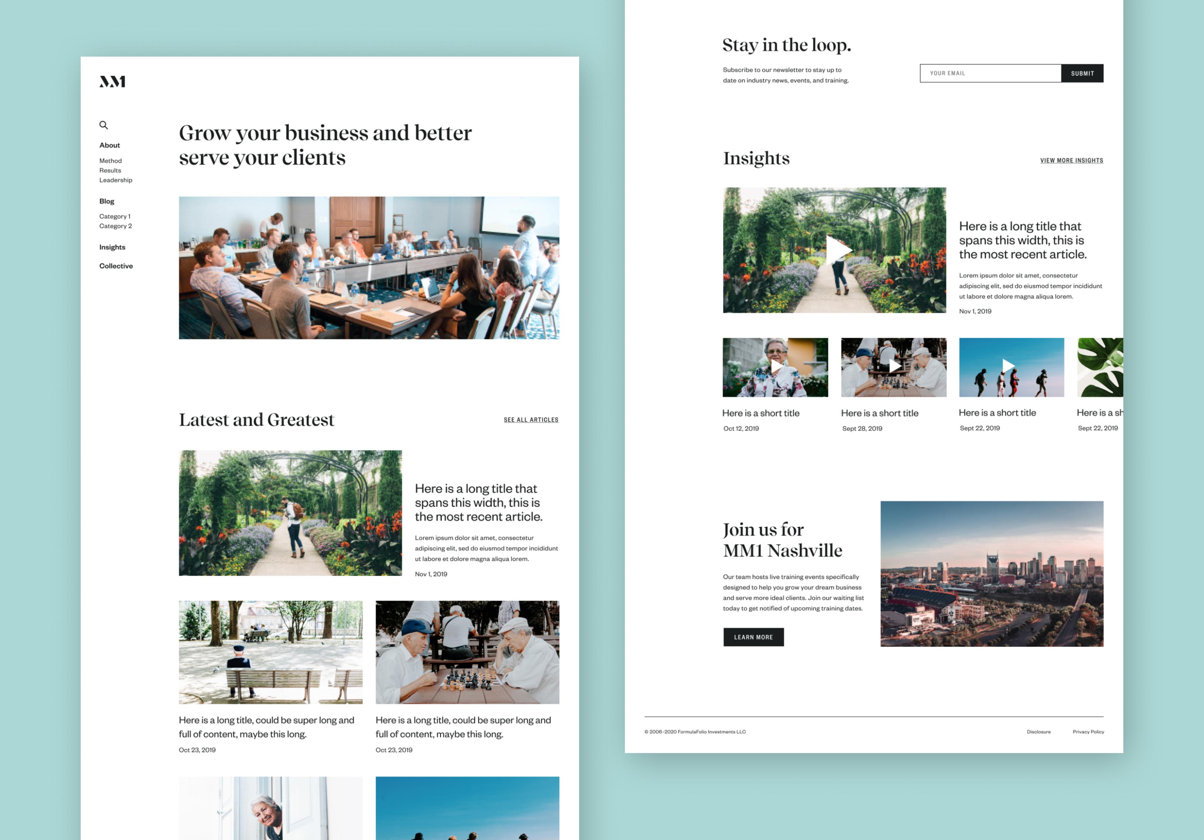 Homepage final prototype