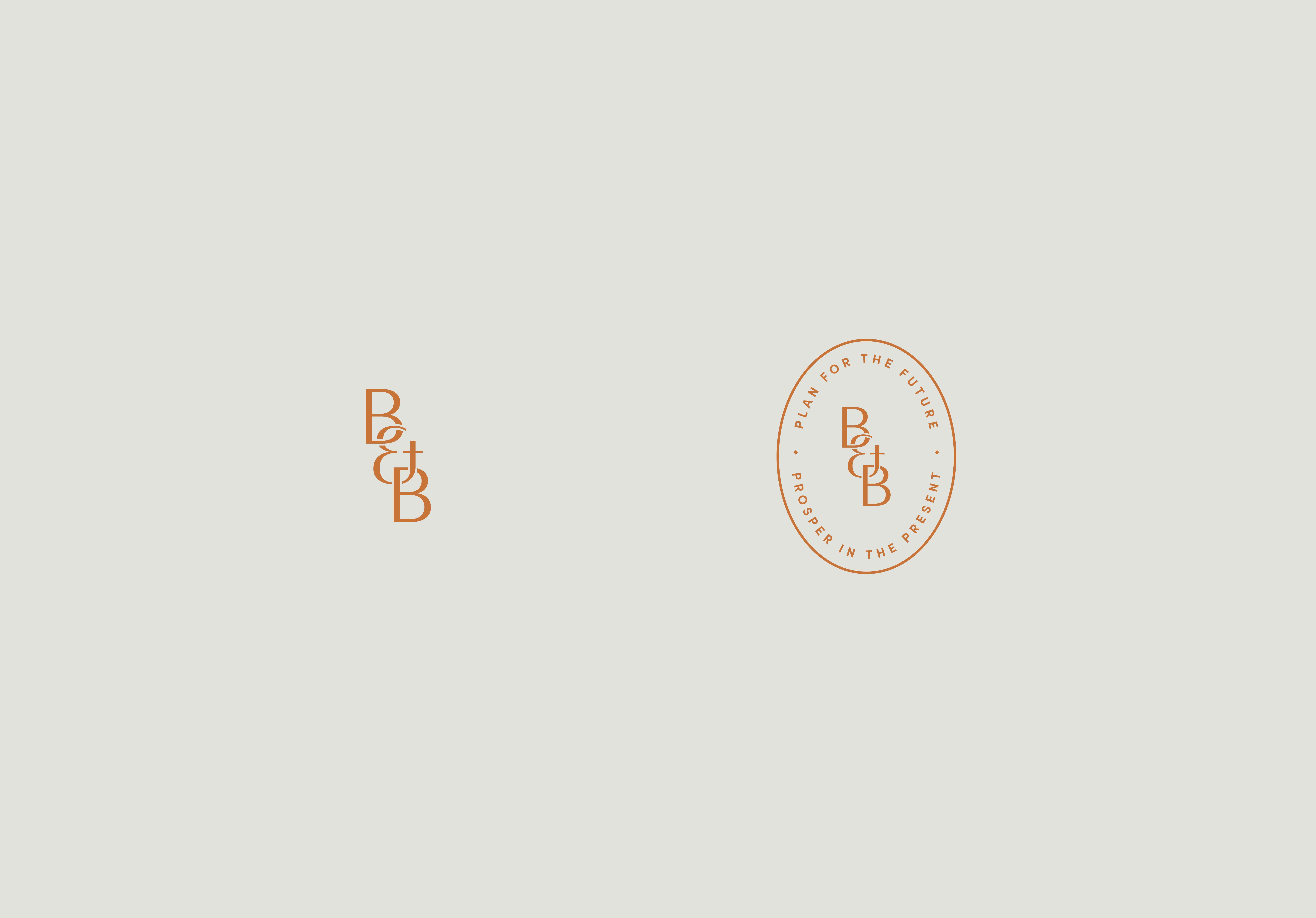 B&B Monogram and B&B stamp