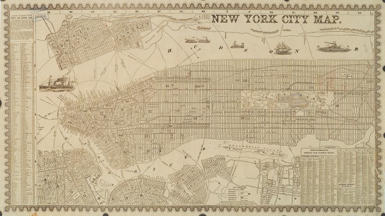 Free Downloads Of Large Old New York City Maps