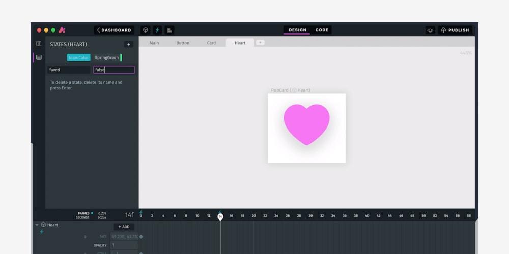 Haiku mac app showing someone creating an animation