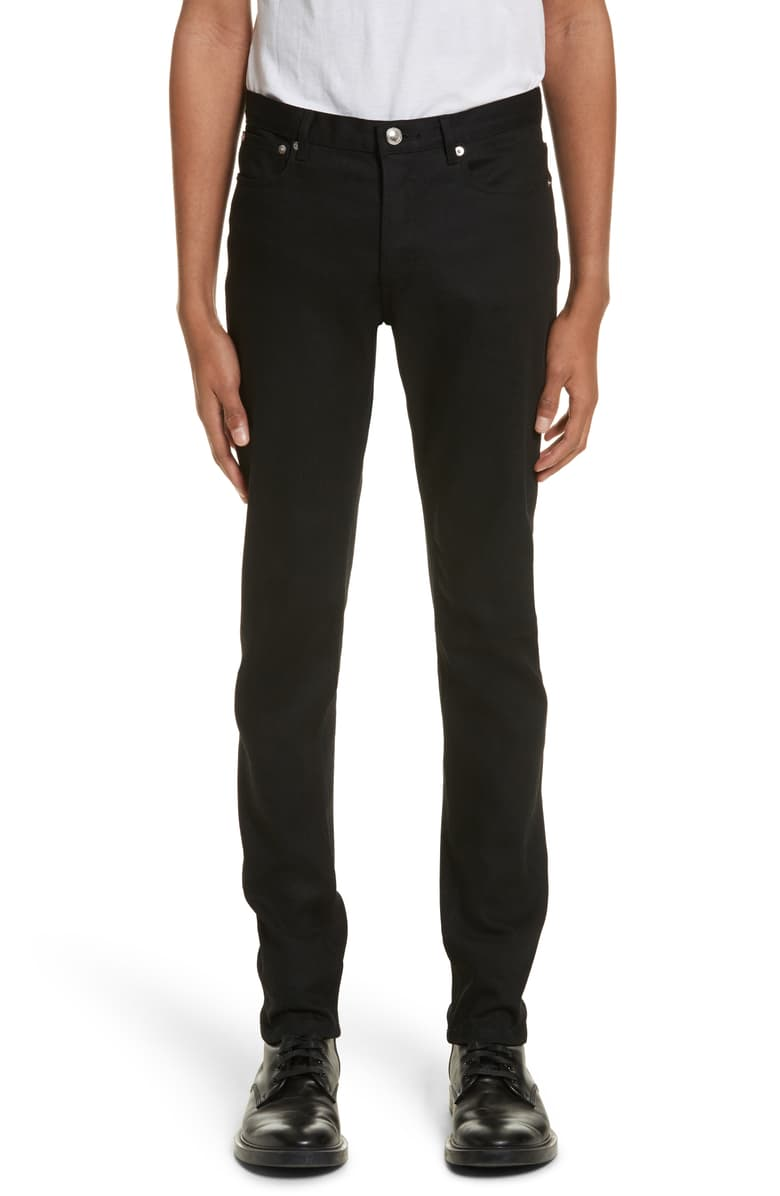 Man wearing black jeans