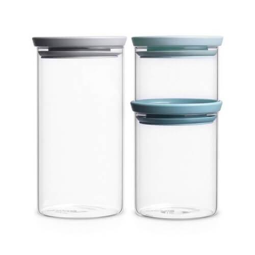 Brabantia Stackable Glass Jars