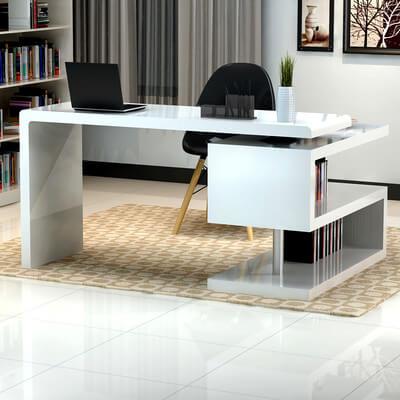 Demetra L-Shaped Computer Desk