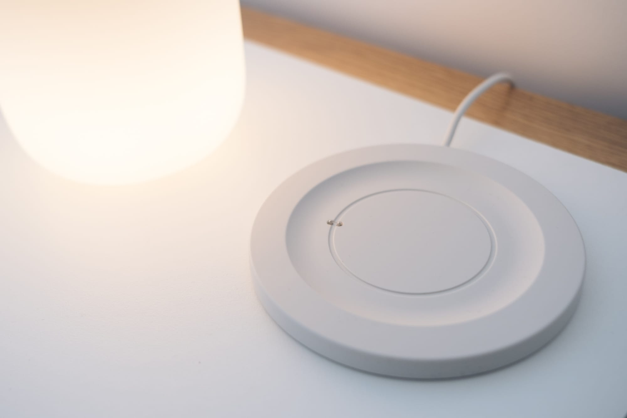 close up of the base station showing the shape