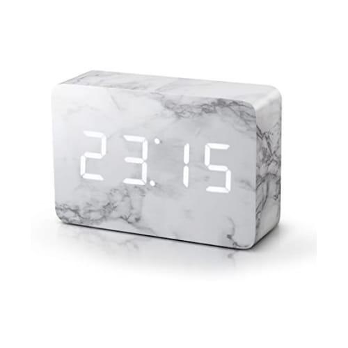 Gingko Brick Marble Click Clock