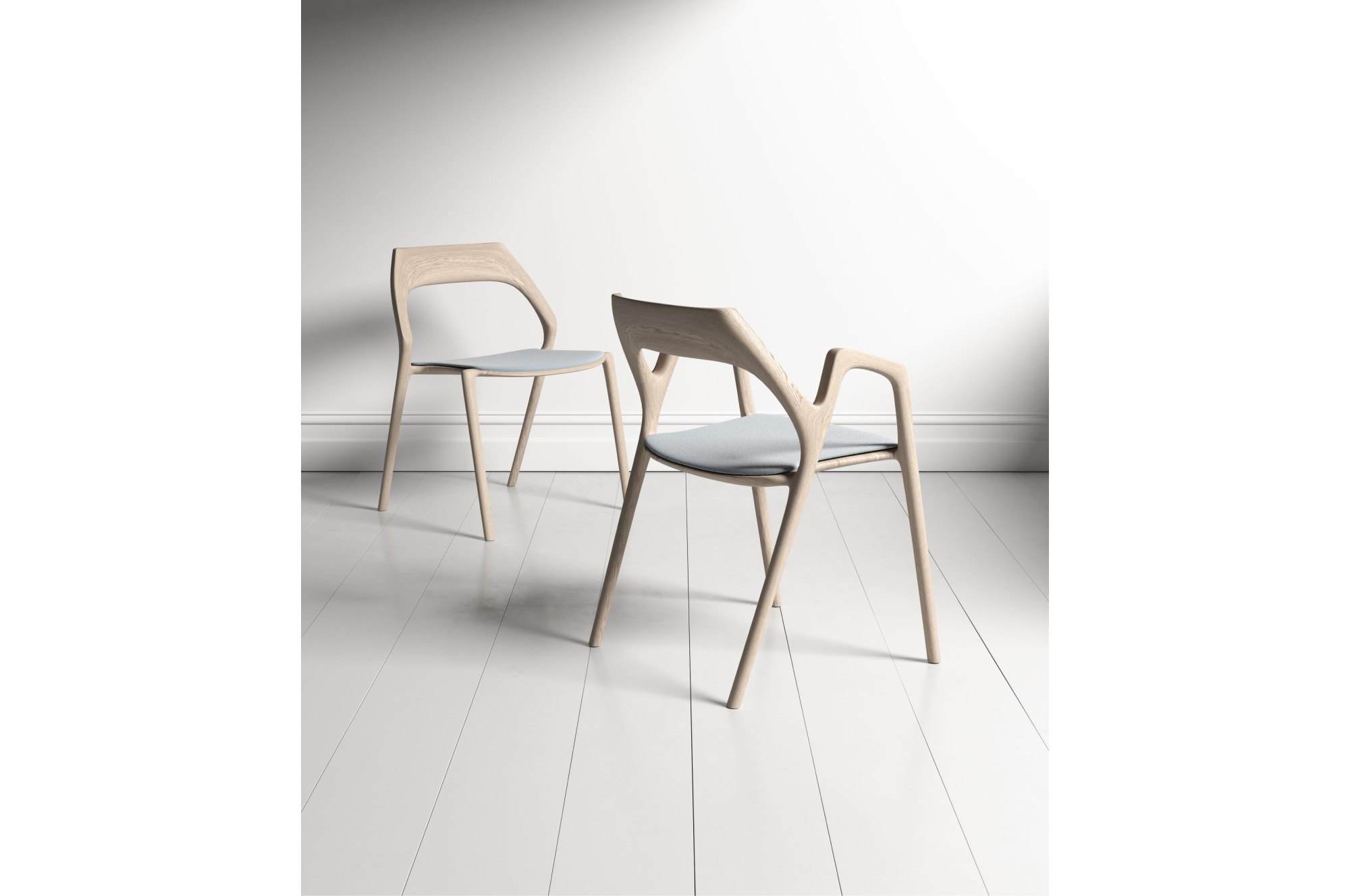 The Ging chair design is inspired by a slingshot