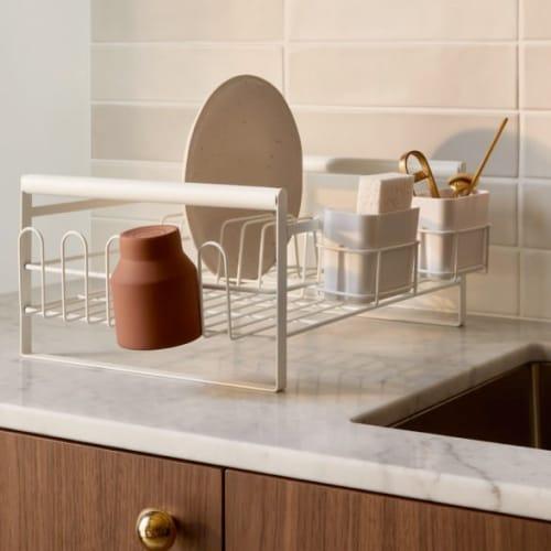 Frame sink dish rack