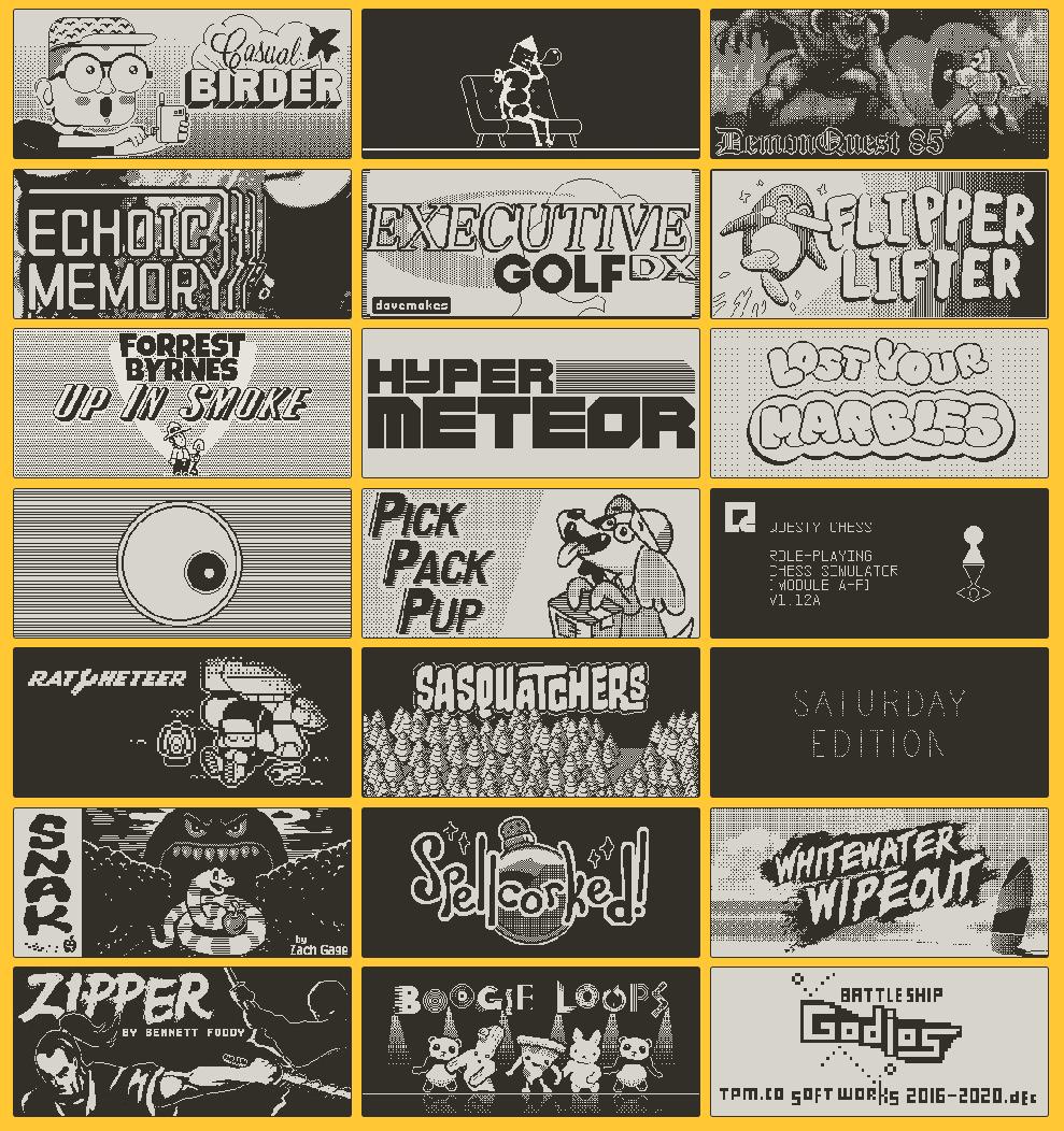 game list of all playdate season 1 games