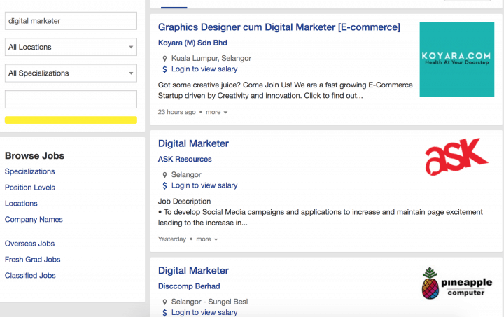 digital marketing jobs in malaysia