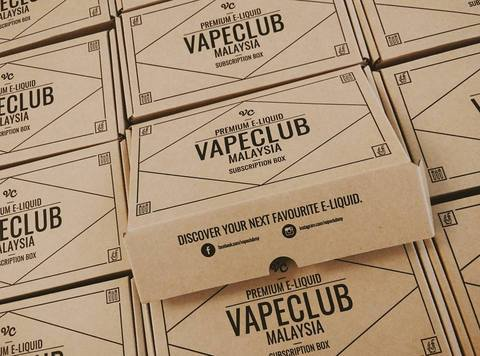VapeClubMY's subscription box for people to discover all types of e-juices