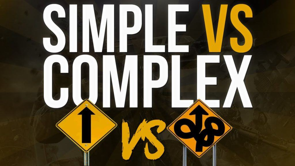 simple vs complex product