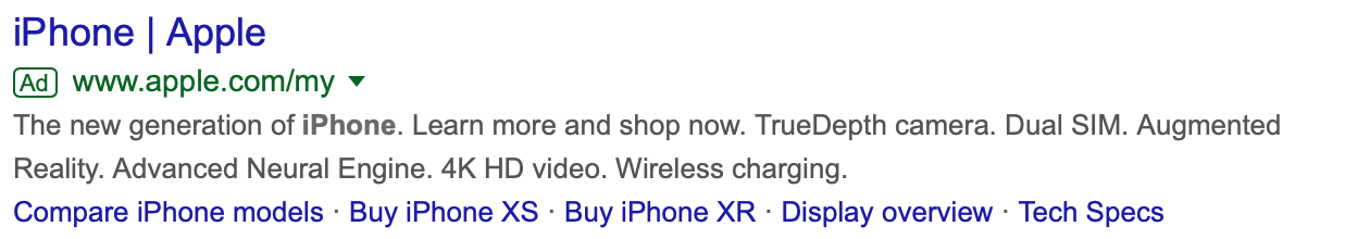example of seo by apple promoting iphone