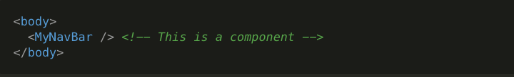 usage of a component