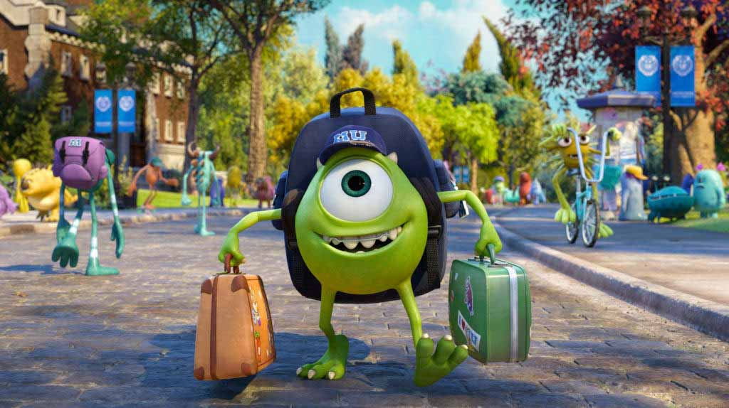 Mike from Monster University movie from Disney