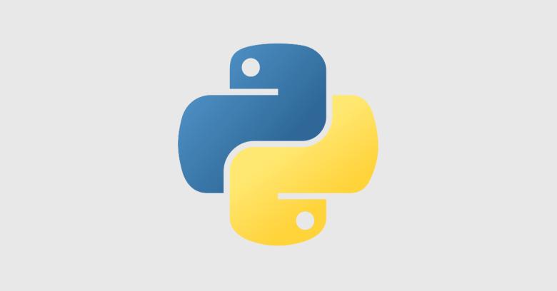 python logo grey background