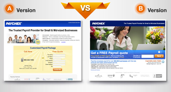 a/b testing for multiple landing pages