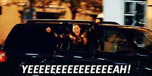 A GIF of Tom Hiddleston saying yeahhhhh
