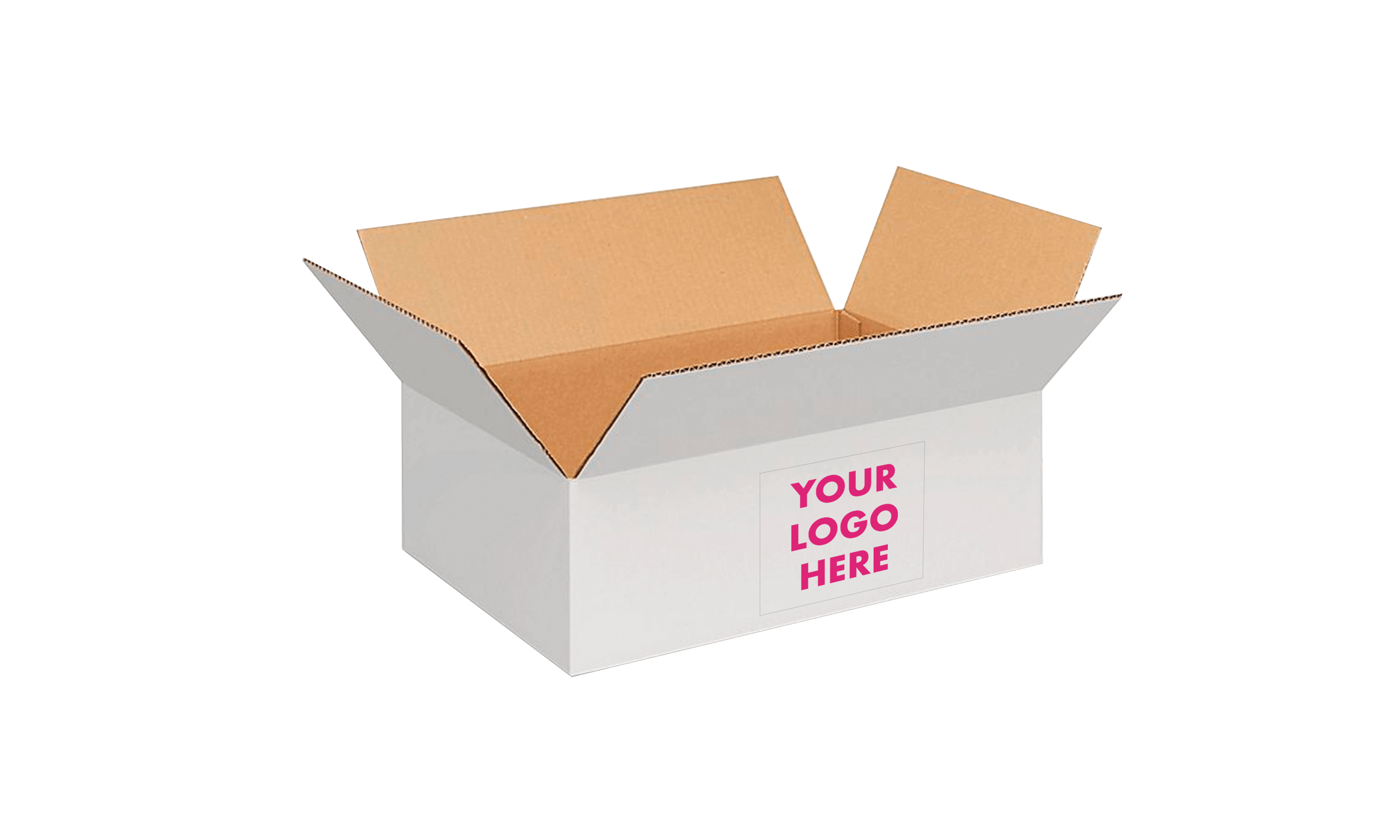 white box with your logo