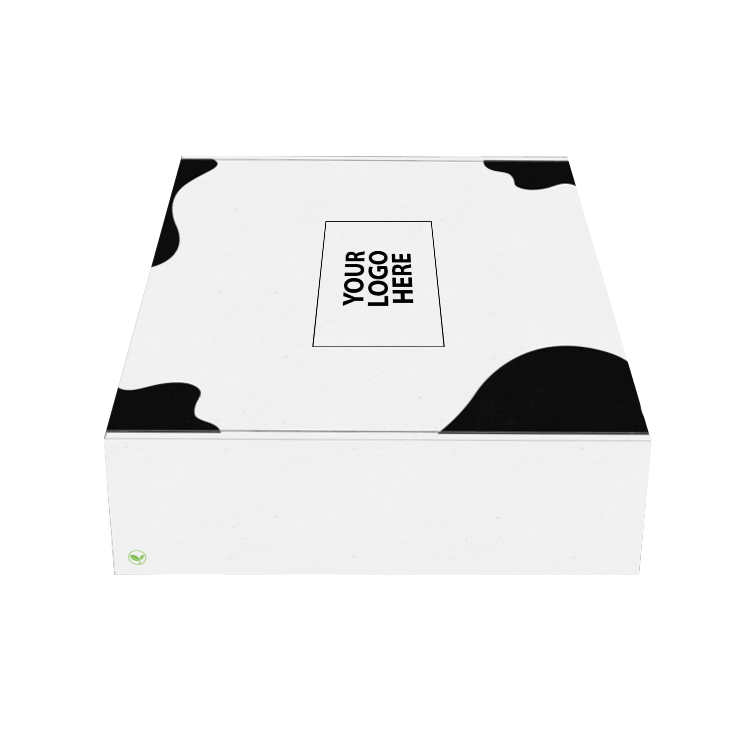 White packaging box with patter