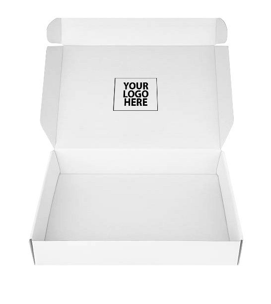 white packaging box with your logo