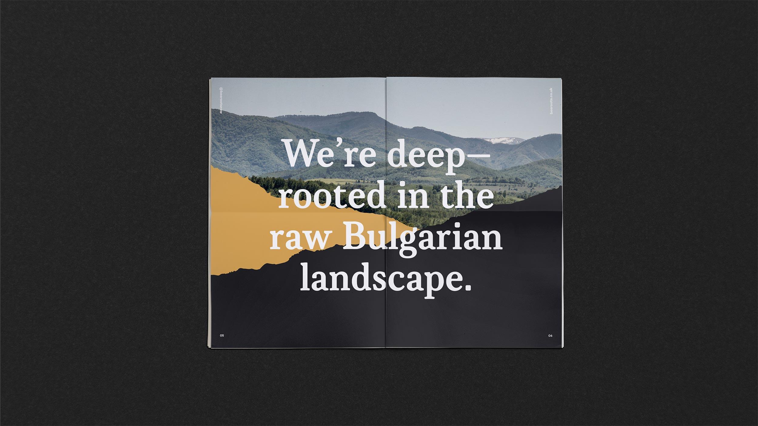 Newsprint design spread