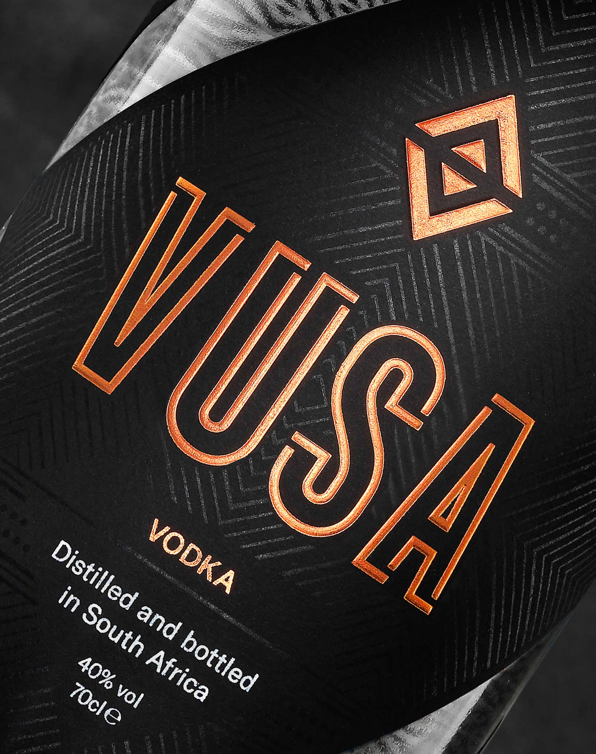 Close up view of Vusa bottle