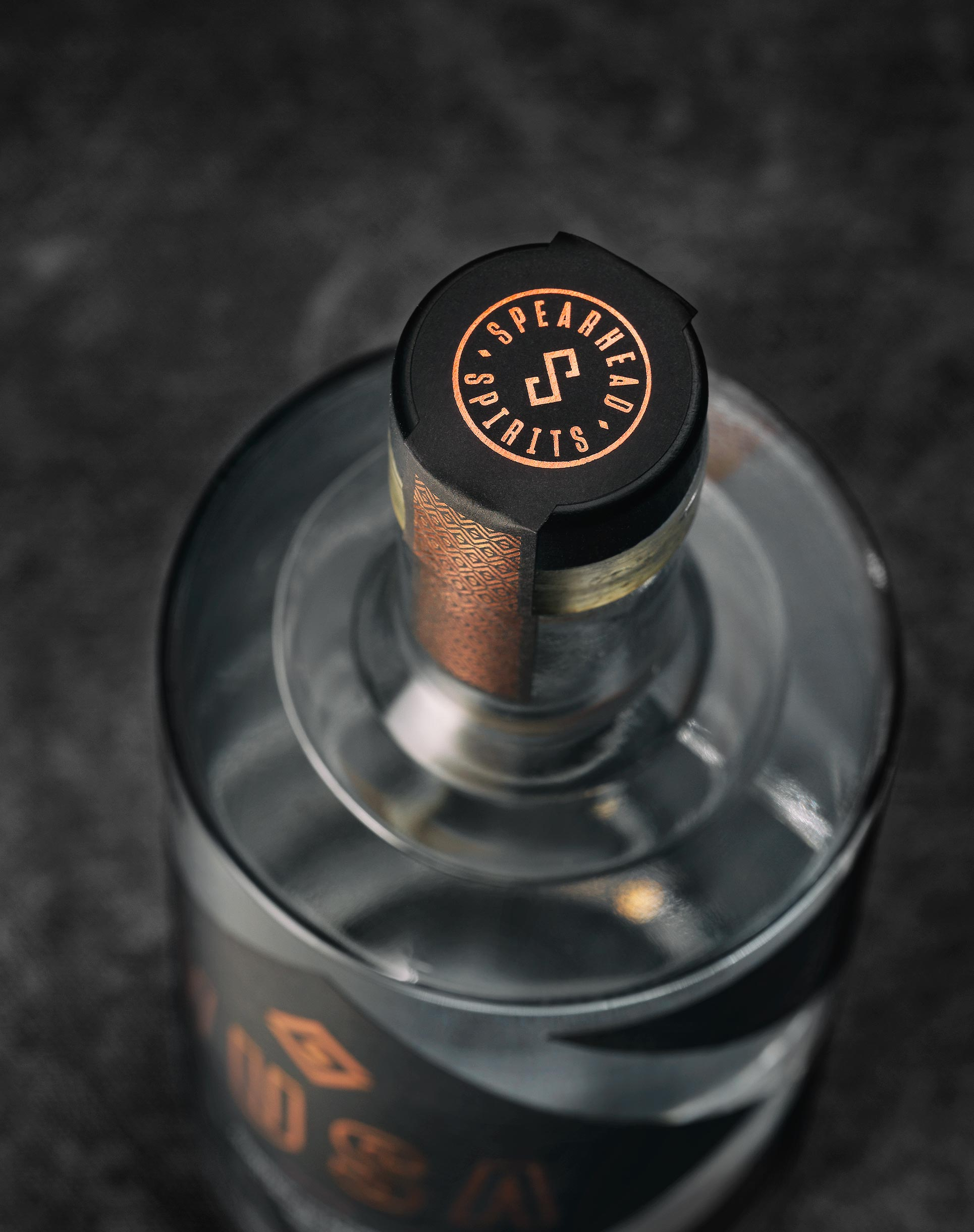 Top view of bottle