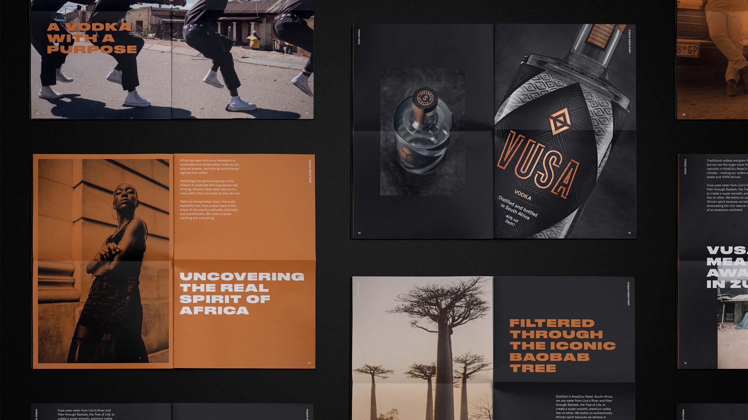 Vusa newsprint designs