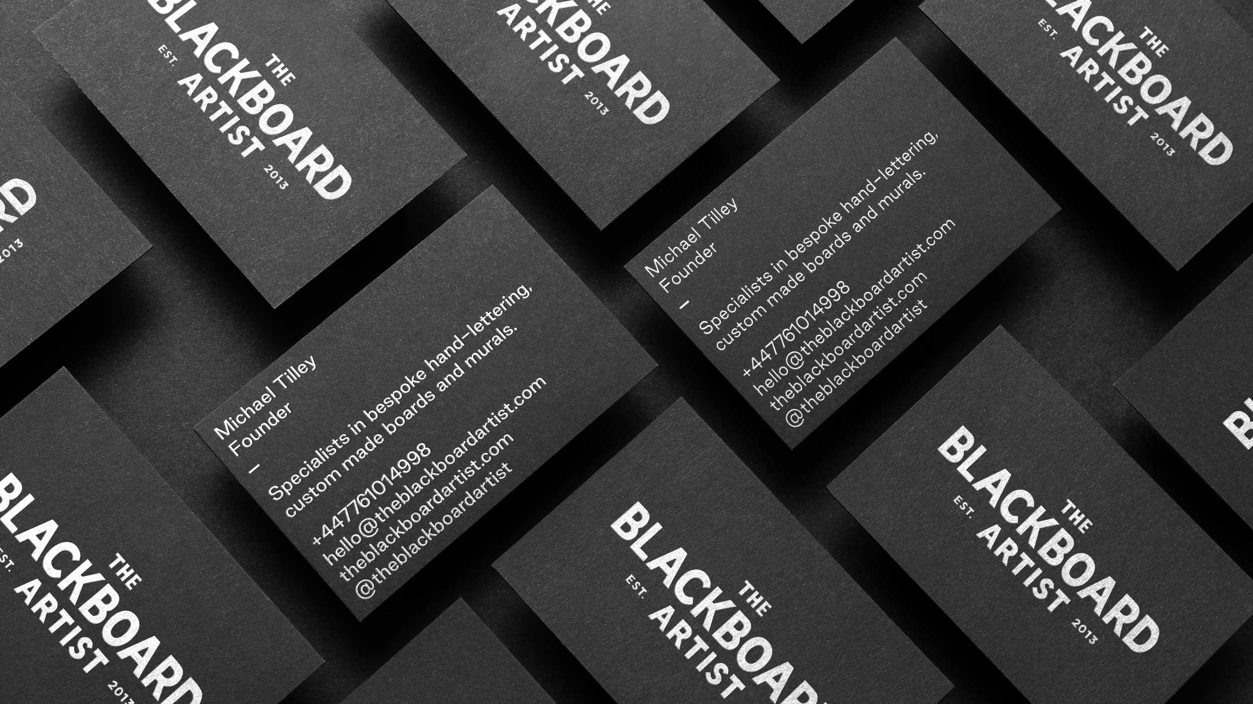 The Blackboard Artist business cards