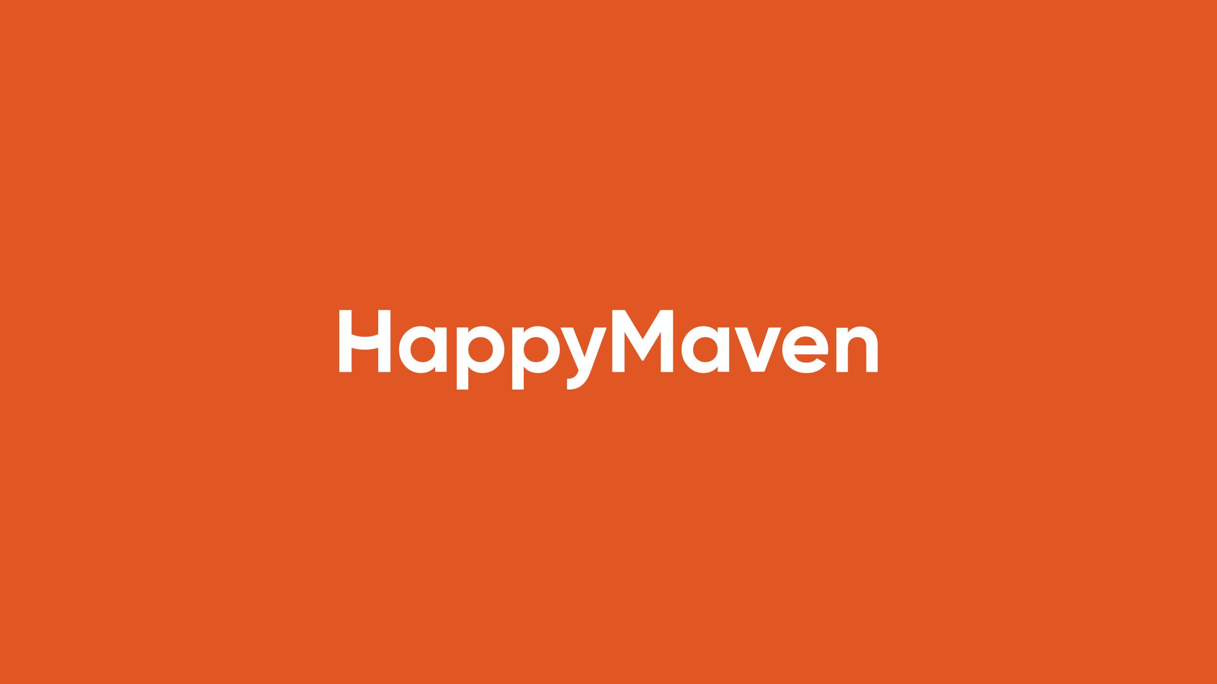 HappyMaven logo design