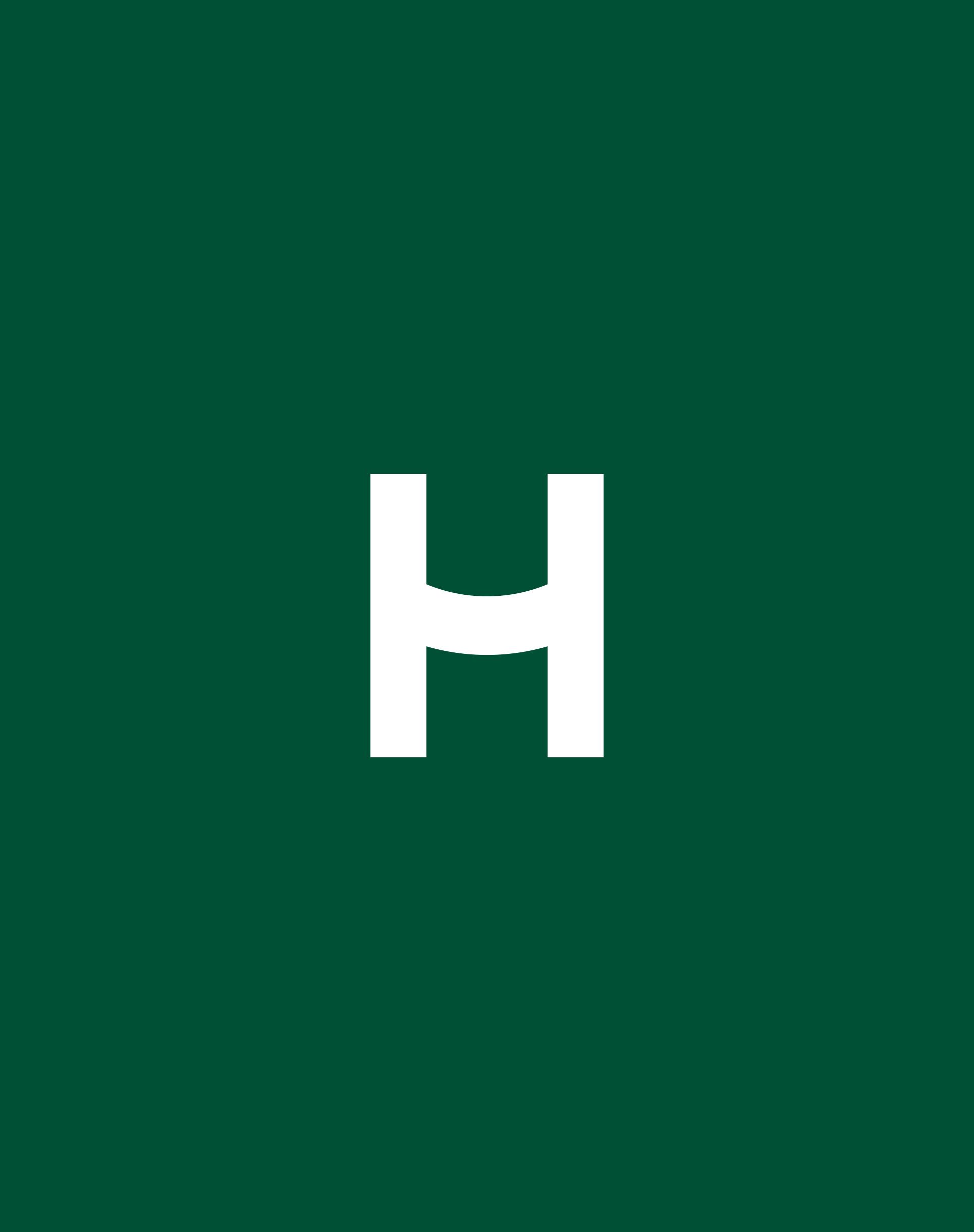 HappyMaven logo mark –H monogram with a smile