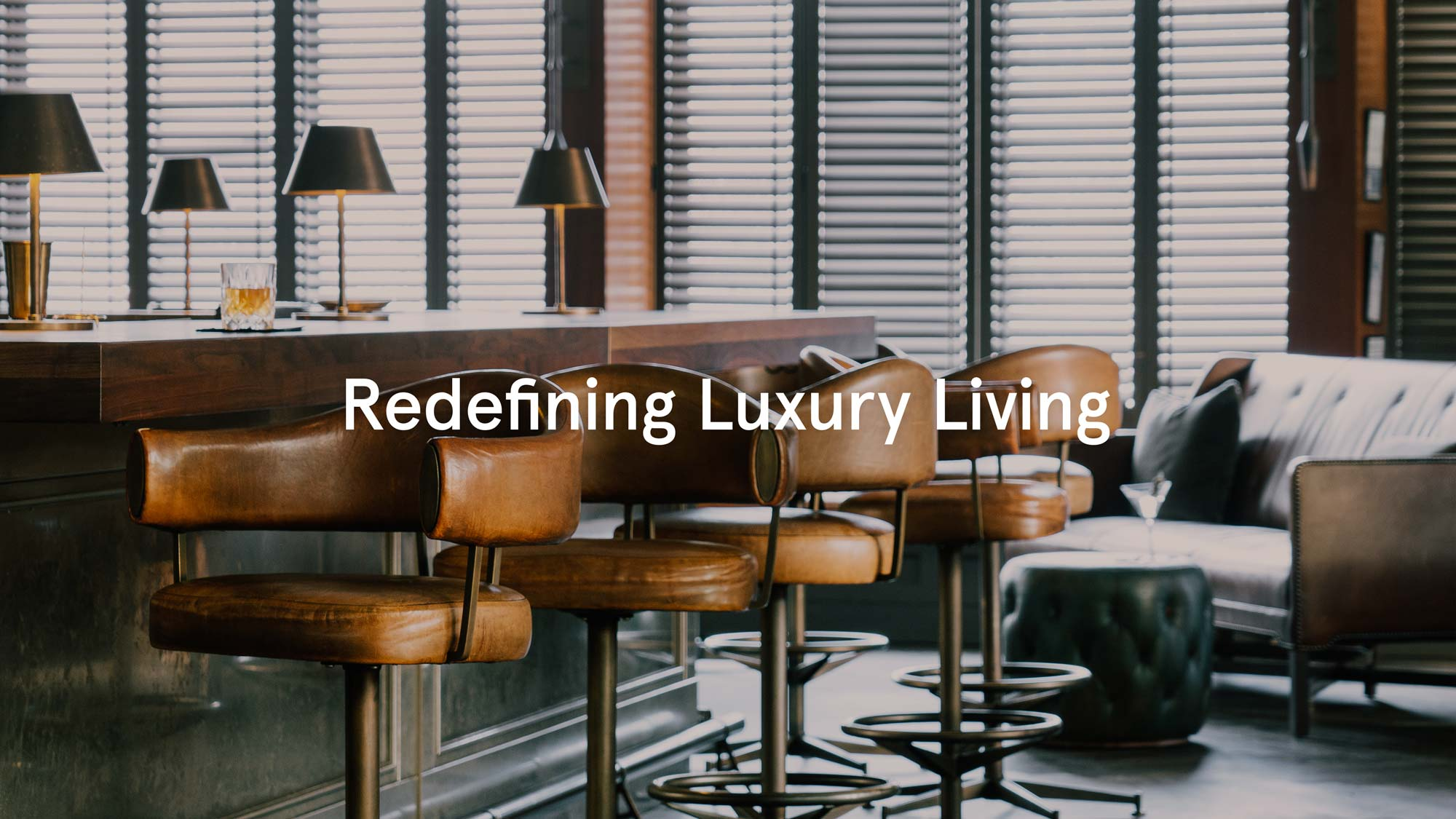 Redefining luxury living interior shot