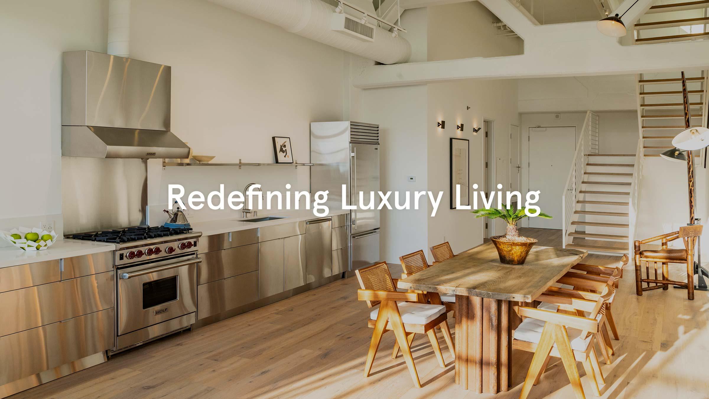Redefining luxury living interior shot