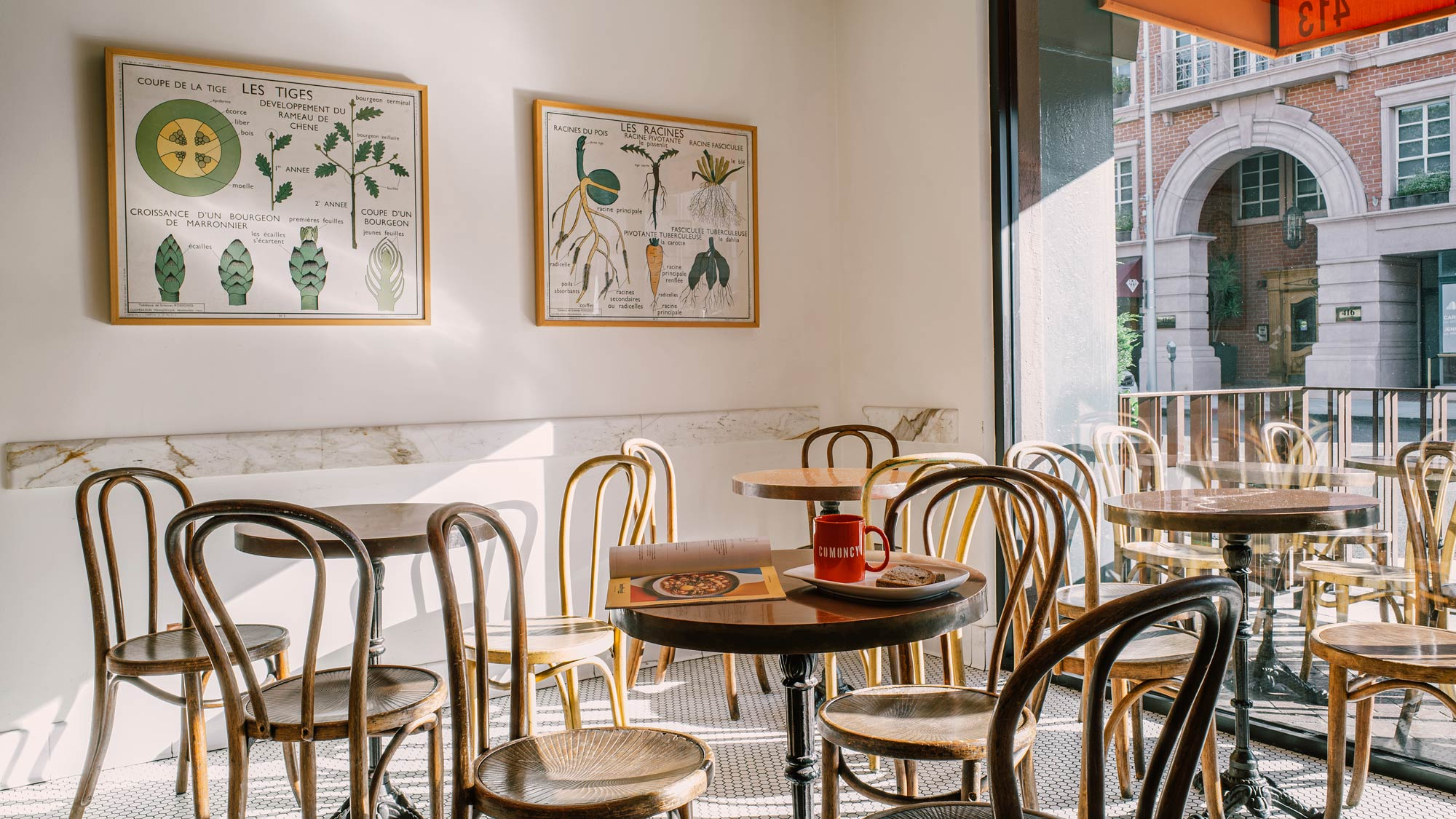 Interior of a Los Angeles cafe