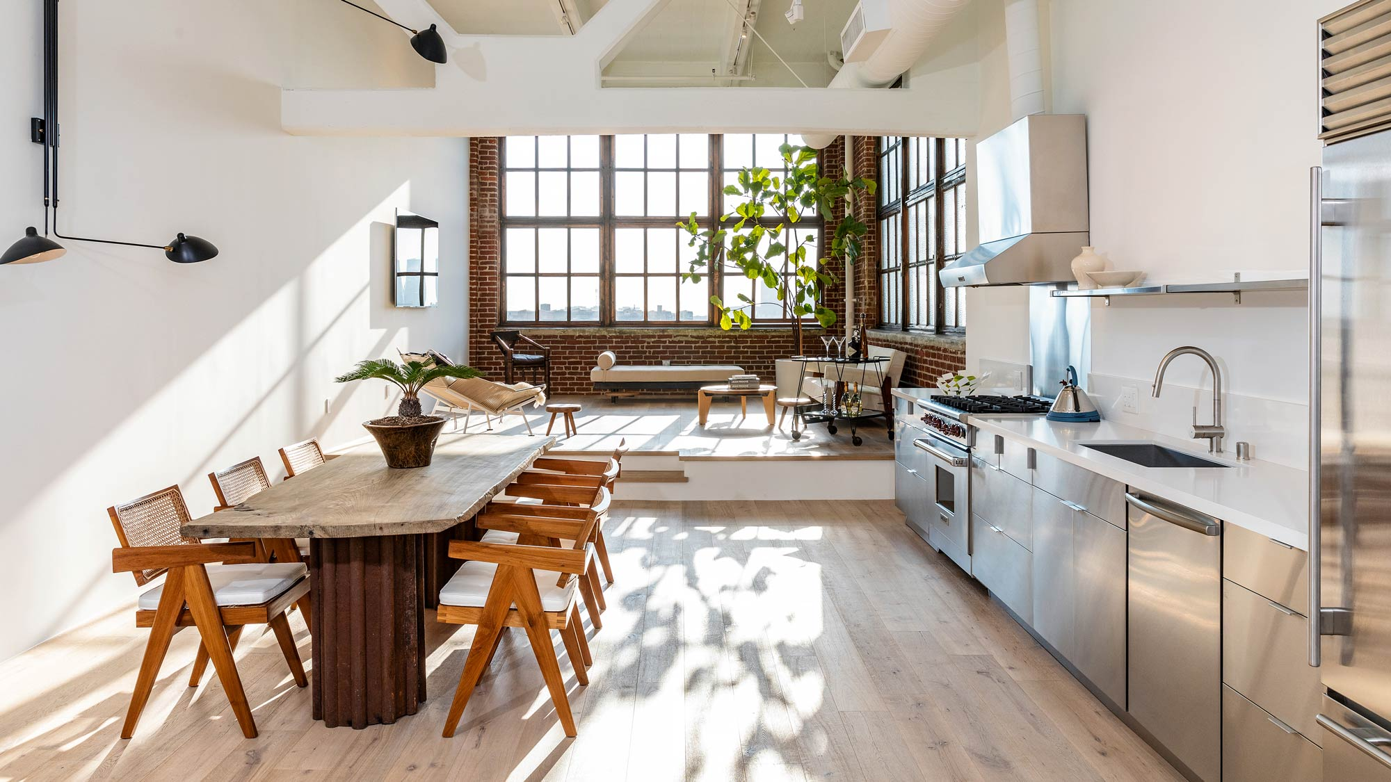 Interior design of a city loft