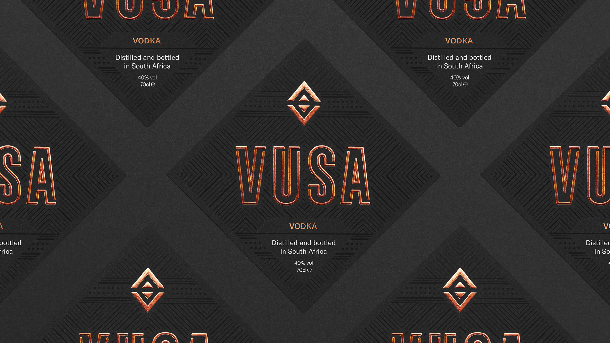 Front view of Vusa labels