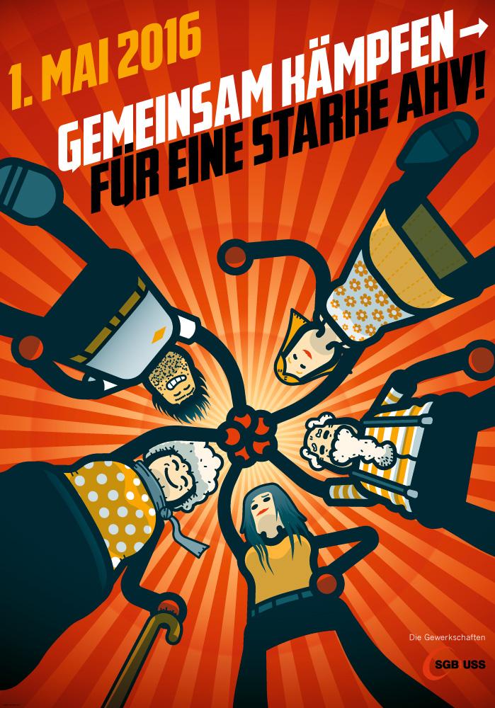 Schweizerischer Gewerkschaftsbund, Plakat 1. Mai 2016