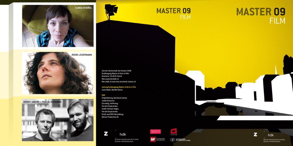 DVD Inlay, 6 pages, Zürcher Hochschule der Künste (Zurich University of the Arts) 1
