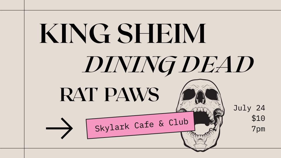 If you haven't heard Dining Dead yet, prepared to be wowed! We're excited to have them and have waited over a year to get them here! Take a listen here: