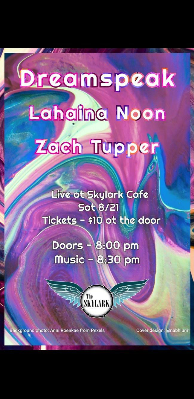 A great night of music featuring some of Seattle's Best Open Mic All Stars: Dreamspeak, Lahaina Noon, Zach Tupper, and Zoser