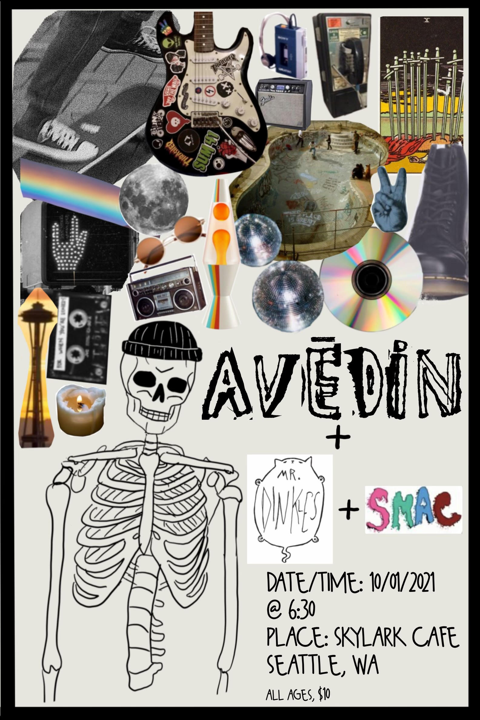 The kids are alright! Come hear some of Seattle's rockin-est up and comers including Avēdin, SMAC, and returning to the stage after melting some faces a few months ago, Mr. Dinkles. Music starts at 7:00 $10 All ages
