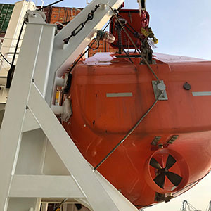 Qingdao Beihai Totally Enclosed Lifeboat Exterior