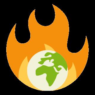 climate crisis icon